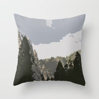 yosemite Throw Pillows featuring Yosemite by Amanda Bates