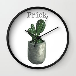 """Prick"" Cactus Wall Clock"