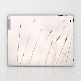 Tall grass against cloudy sky Laptop & iPad Skin