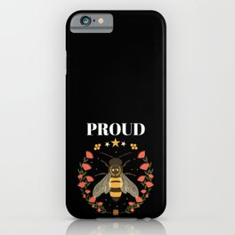 Lesbian Bee T-shirt Cute LGBT Motif Gift iPhone Case