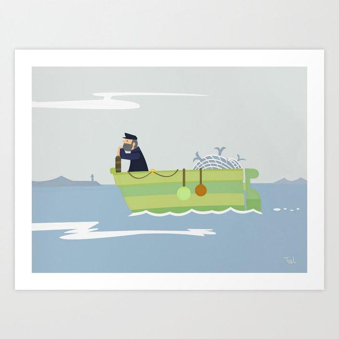 Boat Beach Wall Art, Beach Art Nursery Decor, Nursery Wall Art for Boys Room Art Print