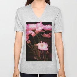 Glowing Flowers Unisex V-Neck