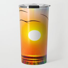 Sunset abstract Travel Mug