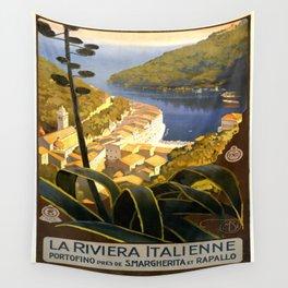 Vintage poster - La Riviera Italienne Wall Tapestry
