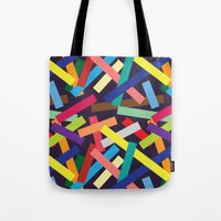 confetti Tote Bags featuring Confetti by Joe Van Wetering