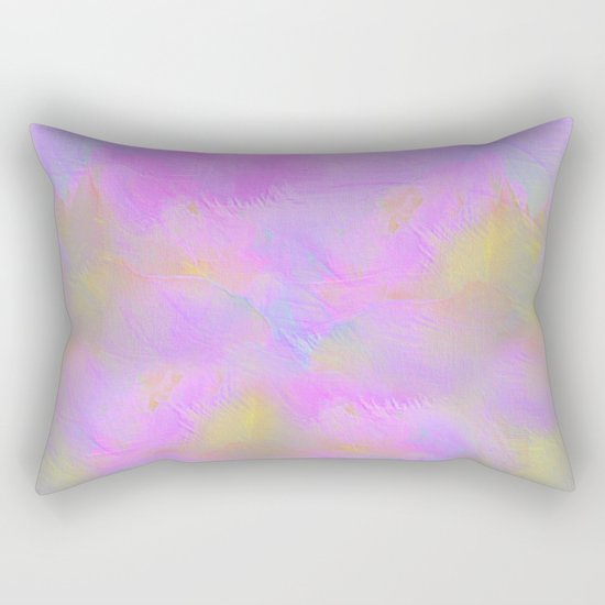 Bright Pastel Feathered Abstract Rectangular Pillow