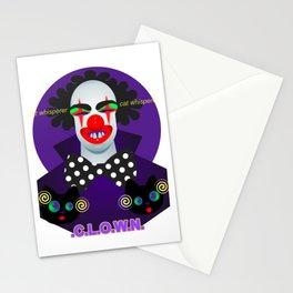 Clown - cat whisperer. Stationery Cards