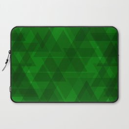 Bright green triangles in intersection and overlay. Laptop Sleeve