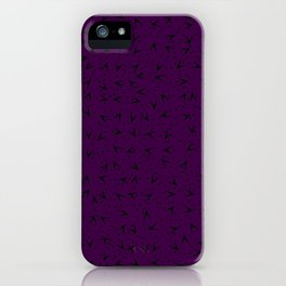 Gorgeous Dark Purple Romantic Pattern iPhone Case