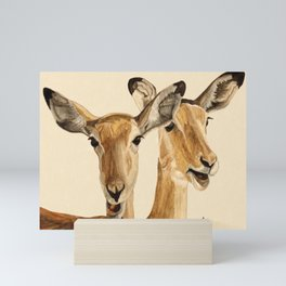 Impalas Watercolor Mini Art Print