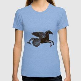 Hippocampus Sea Horse Myth Retro Vintage Rough Design T-shirt
