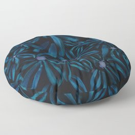Black and Blue Small Flower print Floor Pillow