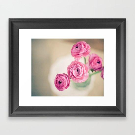Ranunculus in Morning Light Framed Art Print