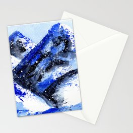 Abstract Winter Mountains Stationery Cards