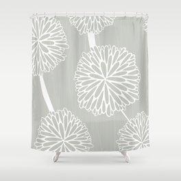 Pom Poms in Grey by Friztin Shower Curtain