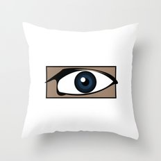Blue Gaze Throw Pillow