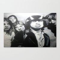 acdc Canvas Prints featuring ACDC by MELANIE GERVAIS ART