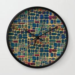Abstract Tile Mosaic Wall Clock