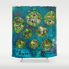 3D ZOO ALT. 2 - ISLANDS IN A NEBULA Shower Curtain