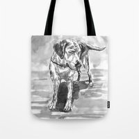 lab Tote Bags featuring lab by Jenn Steffey