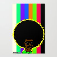 afro Canvas Prints featuring AFRO by watsonpablov