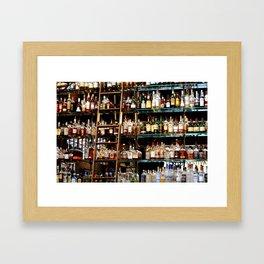 BOTTLES ALL IN A ROW Framed Art Print