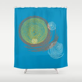 Stitches - Solar flare Shower Curtain