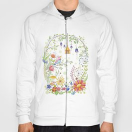 garden and bird Hoody