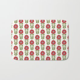 Dot Floral in Red Bath Mat