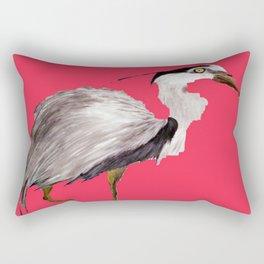 Magenta Heron Rectangular Pillow