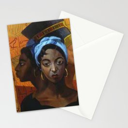 Classical African American Landscape 'Secret History of the Black Race' by Lois Jones Stationery Cards