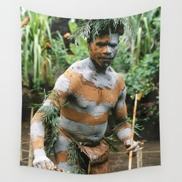 Papua New Guinea Villager Wall Tapestry