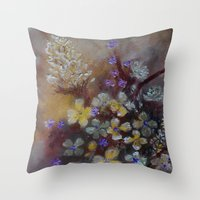 grace Throw Pillows featuring Grace by RokinRonda