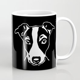A HAPPY JACK  RUSSELL TERRIER CHRISTMAS FROM US AT MONOFACES  Coffee Mug