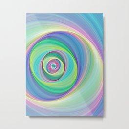 Asymmetric circles around the circle Metal Print