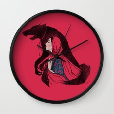 Taming of the wolf Wall Clock