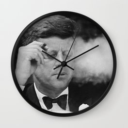 John F Kennedy Smoking Wall Clock