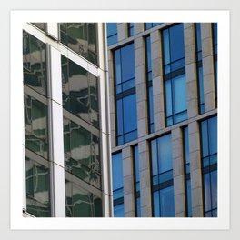Manhattan Windows - Jade Art Print