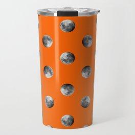 Lunar Moon - orange Travel Mug