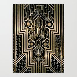Art Nouveau Metallic design Poster