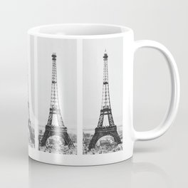1888-1889 The Rise of the Eiffel Tower Construction Sequence black and white photography Coffee Mug