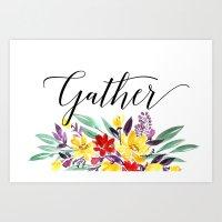 Gather floral Art Print