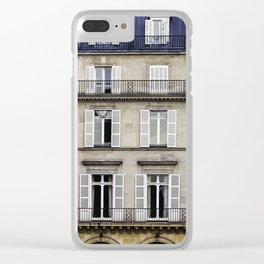 French Architecture Clear iPhone Case
