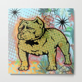 Cool dog pop art Metal Print