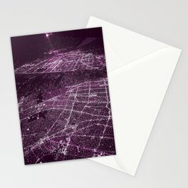 Night Flight out of Los Angeles Stationery Cards