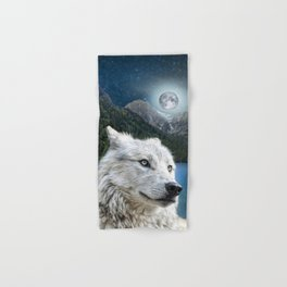 White Wolf and Moonlight Hand & Bath Towel