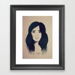 I am Human Framed Art Print