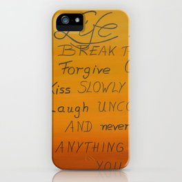 Life is Short iPhone Case