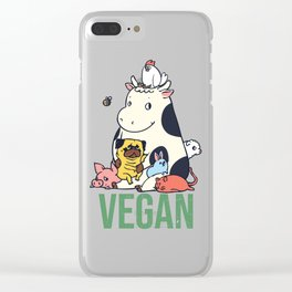 Pug and Friends Vegan Clear iPhone Case