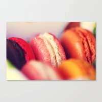 macaroons Canvas Prints featuring Macaroons by Sushibird